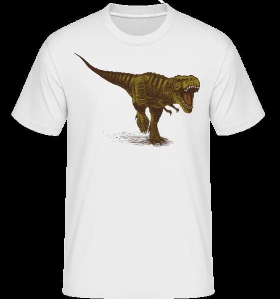 T-Rex -  Shirtinator tričko pre pánov - Biela - Predné