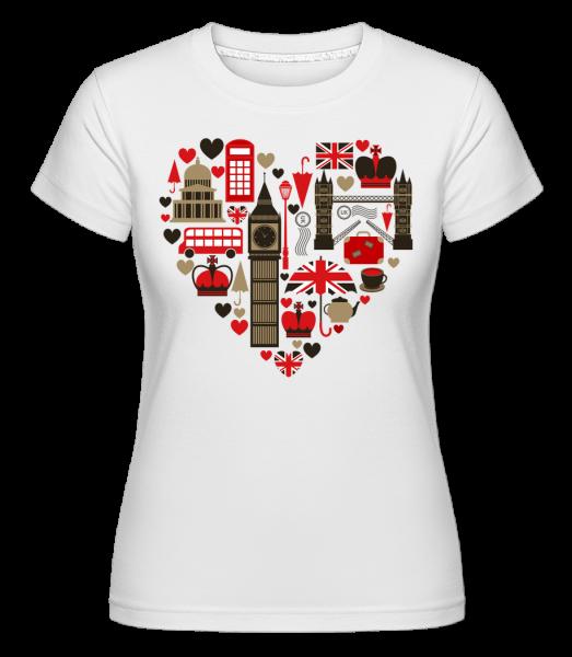 London Láska Heart - Shirtinator tričko pre dámy - Biela - Predné