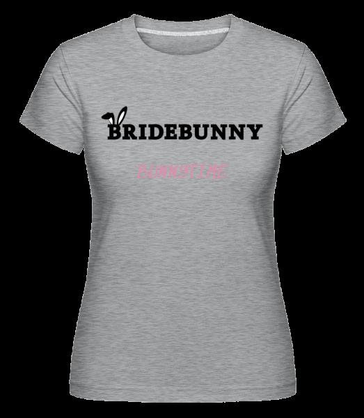 Bridebunny Bunnytime - Shirtinator tričko pre dámy - Melírovo šedá - Predné