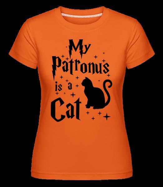 Môj patrón je mačka -  Shirtinator tričko pre dámy - Oranžová - Predné