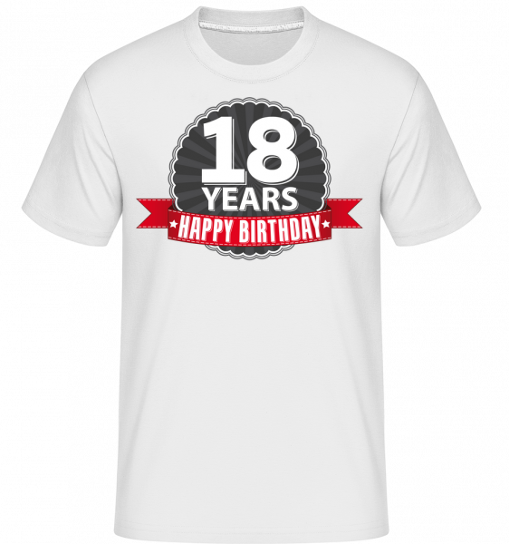 18 rokov Narodeniny -  Shirtinator tričko pre pánov - Biela - Predné