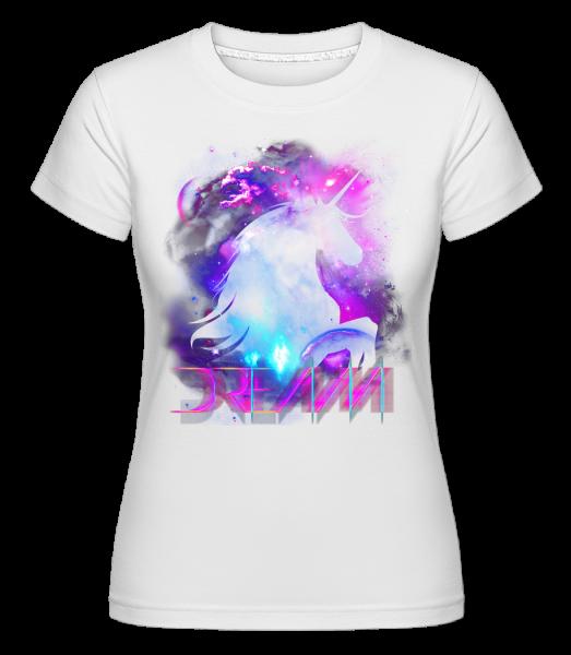 dream Unicorn -  Shirtinator tričko pre dámy - Biela - Predné