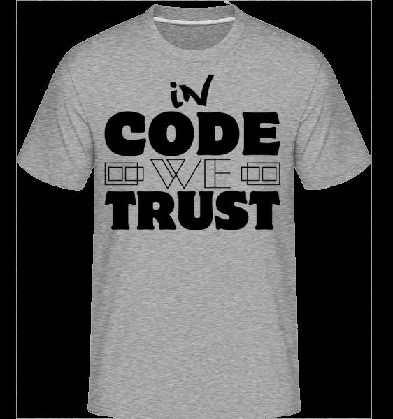 V zákonníku Veríme, -  Shirtinator tričko pre pánov - Melírovo šedá - Predné