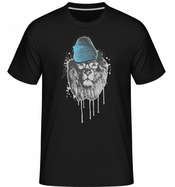 Lev s hlavou -  Shirtinator tričko pre pánov - Čierna1 - Predné
