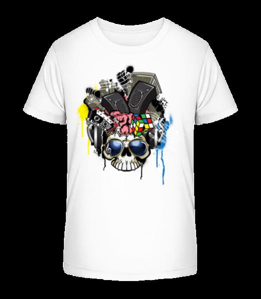 creative Lebka - Detské Premium Bio tričko - Biela - Predné