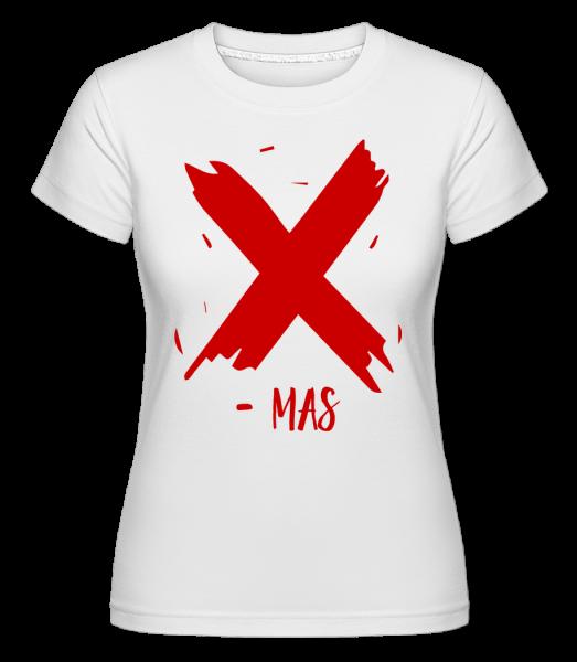 X - MAS - Shirtinator tričko pre dámy - Biela - Predné
