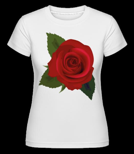 Rose Red - Shirtinator tričko pre dámy - Biela - Predné