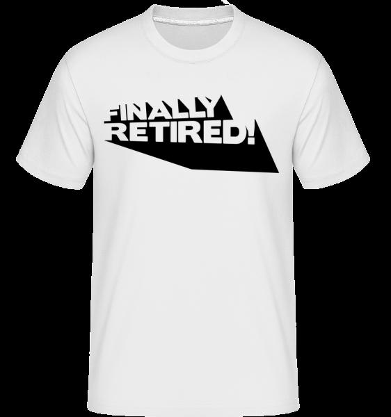 Konečne dôchodcovia! -  Shirtinator tričko pre pánov - Biela - Predné
