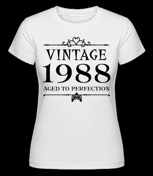 Klasická 1988 Dokonalosť -  Shirtinator tričko pre dámy - Biela - Predné
