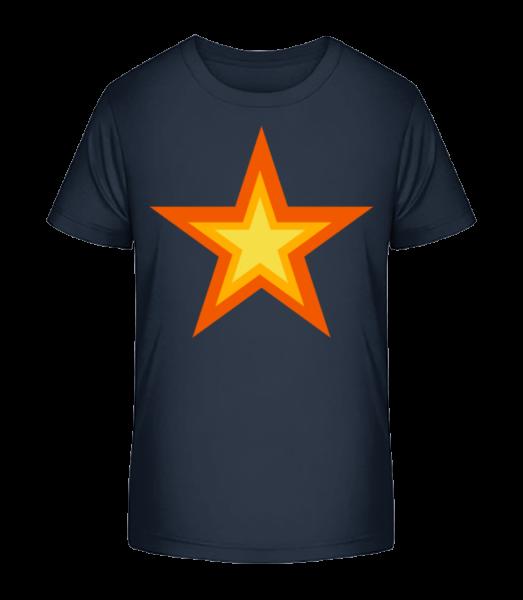 hviezda Logo - Detské Premium Bio tričko - Namornícka modrá - Predné