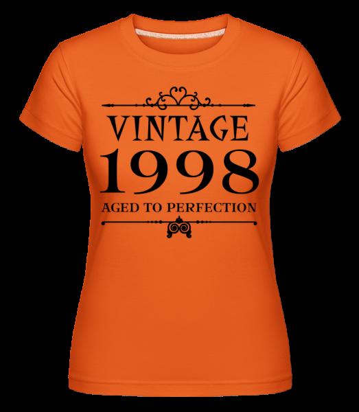 Vintage 1998 Perfection -  Shirtinator tričko pre dámy - Oranžová - Predné
