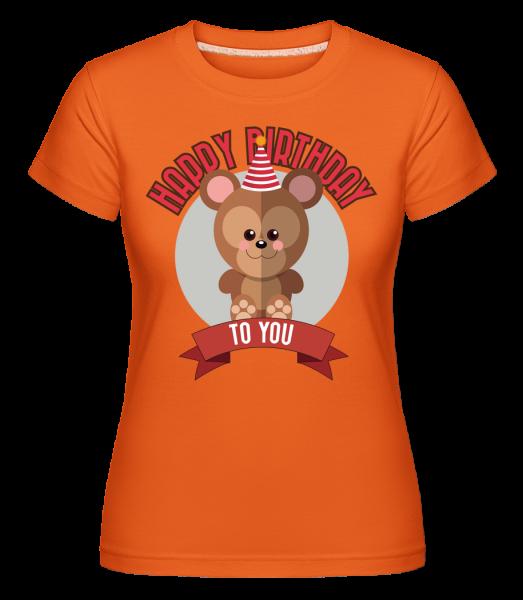 Happy Birthday To You Monkey -  Shirtinator tričko pre dámy - Oranžová - Predné