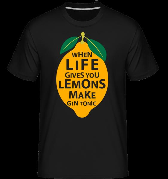 Keď život vám dáva citróny -  Shirtinator tričko pre pánov - Čierna1 - Predné