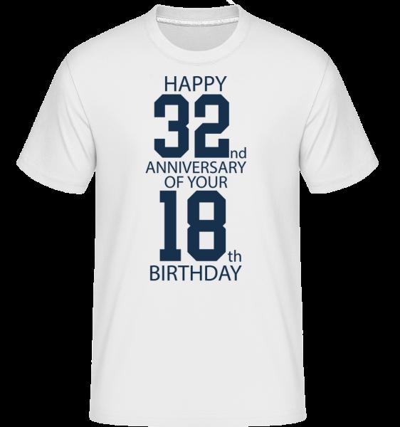 50. narodeniny -  Shirtinator tričko pre pánov - Biela - Predné