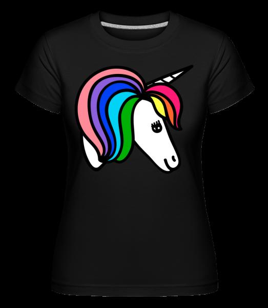 Unicorn Dúha -  Shirtinator tričko pre dámy - Čierna - Predné