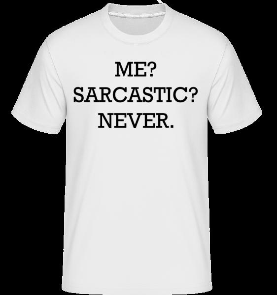 Sarcastic Me - Shirtinator tričko pre pánov - Biela - Predné