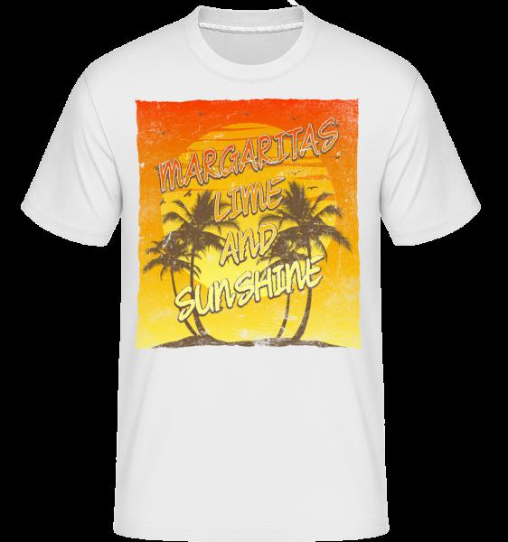 Margaritas a Sunshine -  Shirtinator tričko pre pánov - Biela - Predné