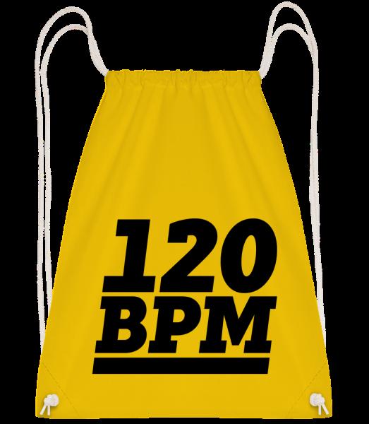 120 BPM Logo - Drawstring batoh so šnúrkami - žltá - Predné