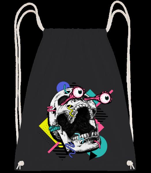 Skull Shocked - Drawstring batoh so šnúrkami - Čierna1 - Predné