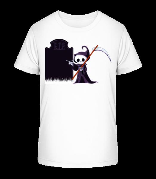 Smrť Rest In Peace - Detské Premium Bio tričko - Biela - Predné