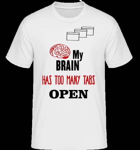 Môj mozog má príliš veľa otvorených záložiek -  Shirtinator tričko pre pánov - Biela - Predné