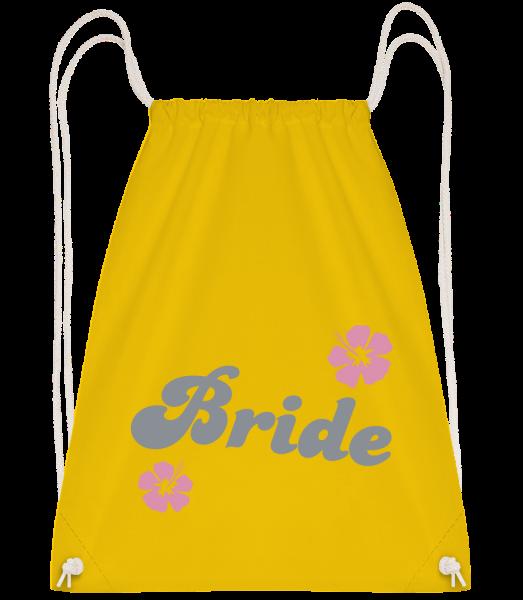 Bride - Drawstring batoh so šnúrkami - Žltá - Predné