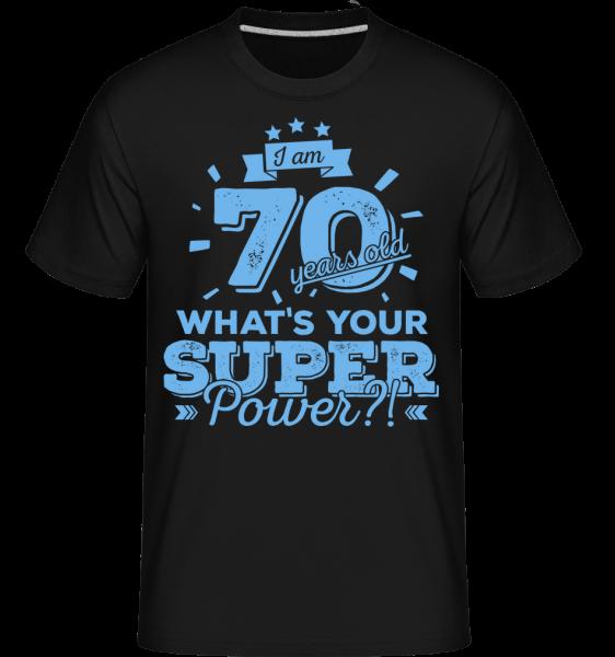 70 Years Super Power -  Shirtinator tričko pre pánov - Čierna - Predné