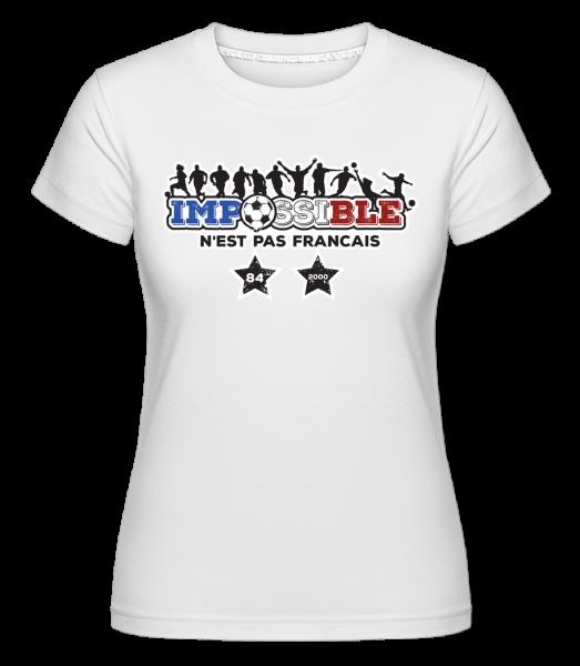 football_2_FR - Shirtinator tričko pre dámy - Biela - Predné