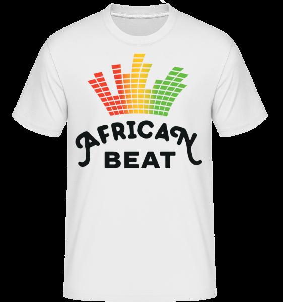 Afričan beat - Shirtinator tričko pre pánov - Biela - Predné