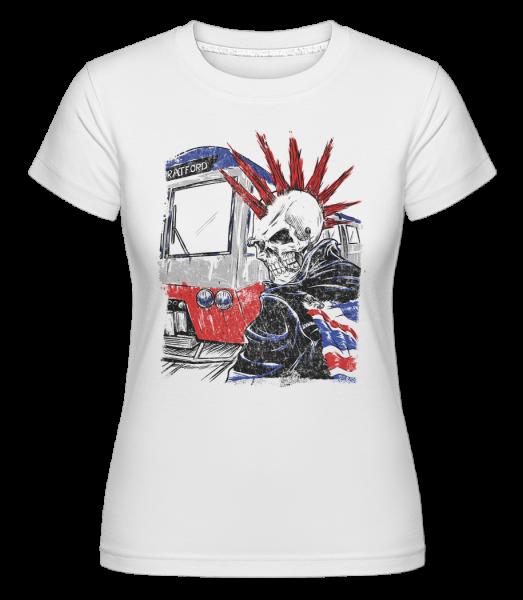 London lebka Punk -  Shirtinator tričko pre dámy - Biela - Predné