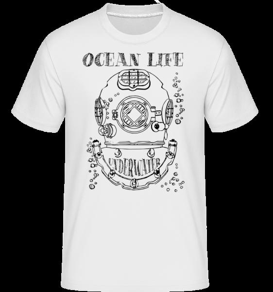 Ocean Life Logo -  Shirtinator tričko pre pánov - Biela - Predné