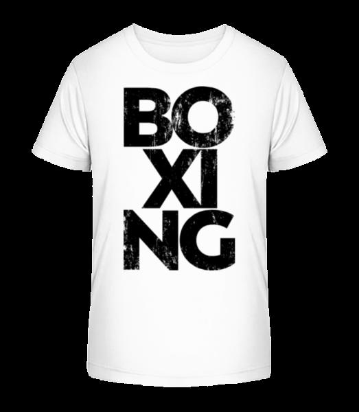 box - Detské Premium Bio tričko - Biela - Predné