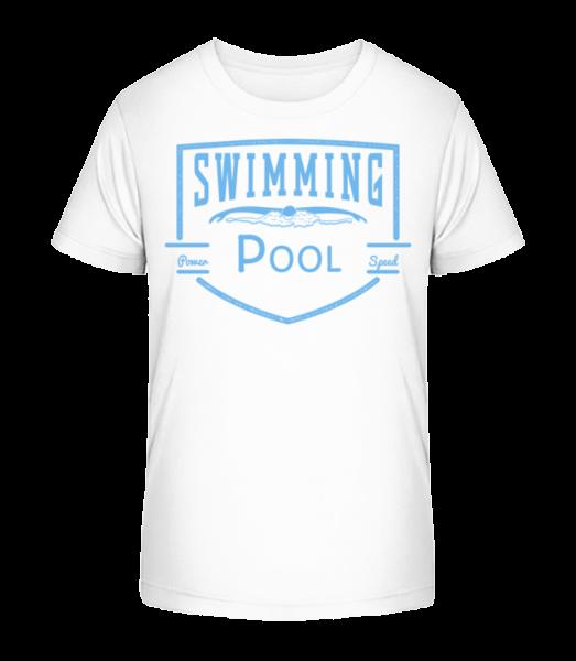 bazén Sign - Detské Premium Bio tričko - Biela - Predné