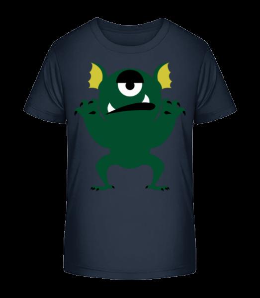 Bored Monster - Detské Premium Bio tričko - Namornícka modrá - Predné