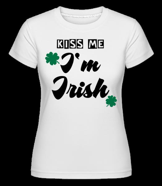 Pobozkaj ma, som Ír -  Shirtinator tričko pre dámy - Biela - Predné