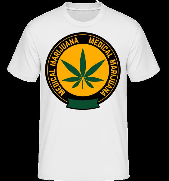 Medical Marijuana -  Shirtinator tričko pre pánov - Biela - Predné
