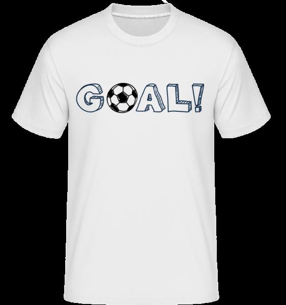 Football Goal Logo -  Shirtinator tričko pre pánov - Biela - Predné