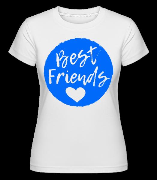 Best Friends Love -  Shirtinator tričko pre dámy - Biela - Predné