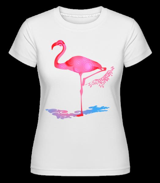 Flamingo - Shirtinator tričko pre dámy - Biela - Predné