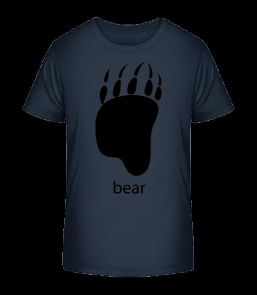 Bear Paw - Detské Premium Bio tričko - Namornícka modrá - Predné