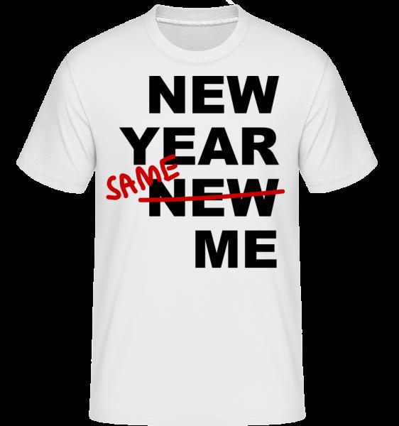 New Year Same Me - Shirtinator tričko pre pánov - Biela - Predné