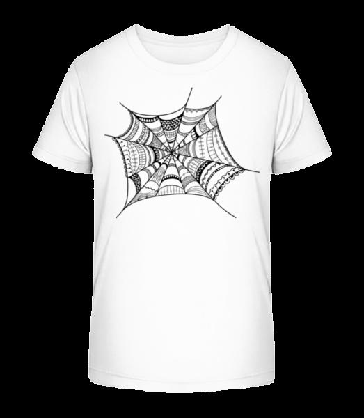 Pavučina - Detské Premium Bio tričko - Biela - Predné