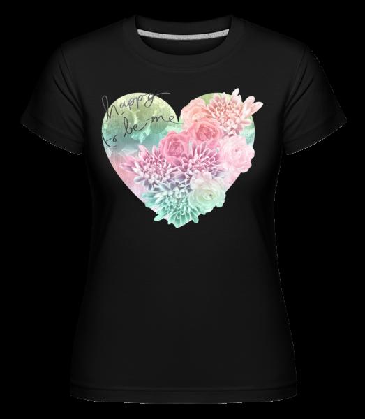Rád, že sa ma -  Shirtinator tričko pre dámy - Čierna - Predné