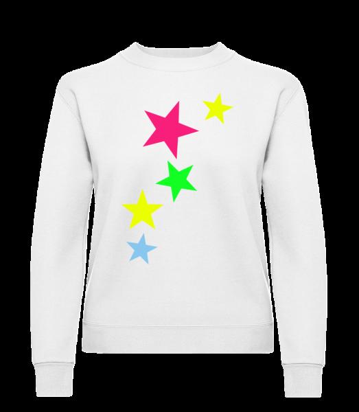 Colorful Stars - Klasická mikina pre dámy sg - Biela - Predné