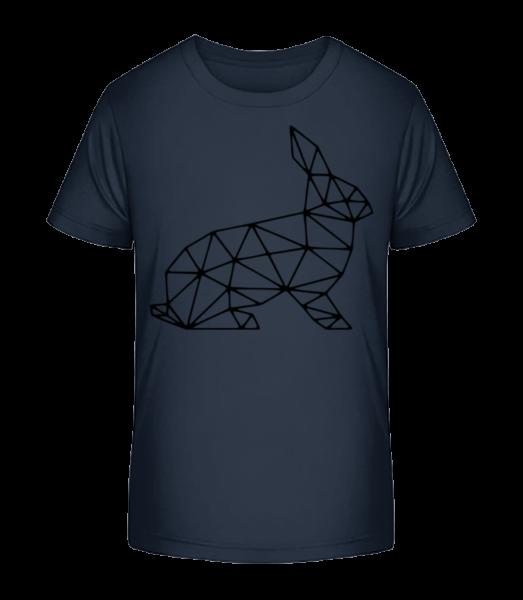Polygon Rabbit - Detské Premium Bio tričko - Namornícka modrá - Predné