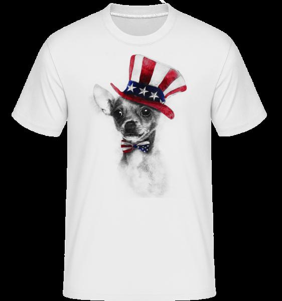 USA Chihuahua -  Shirtinator tričko pre pánov - Biela - Predné