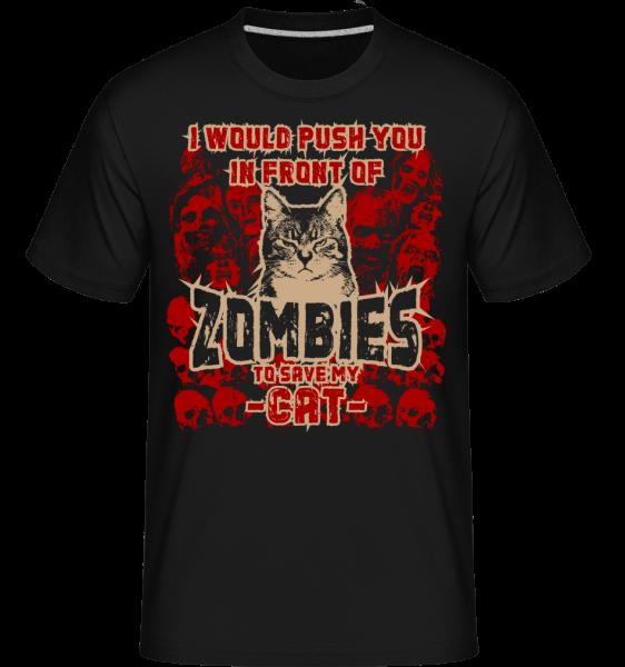 Save My Cat -  Shirtinator tričko pre pánov - Čierna1 - Predné