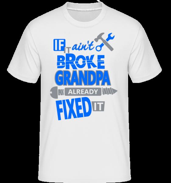 dedko opravil - Shirtinator tričko pre pánov - Biela - Predné