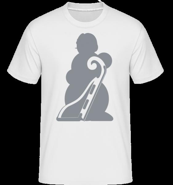 Sledge Snowman Gray - Shirtinator tričko pre pánov - Biela - Predné