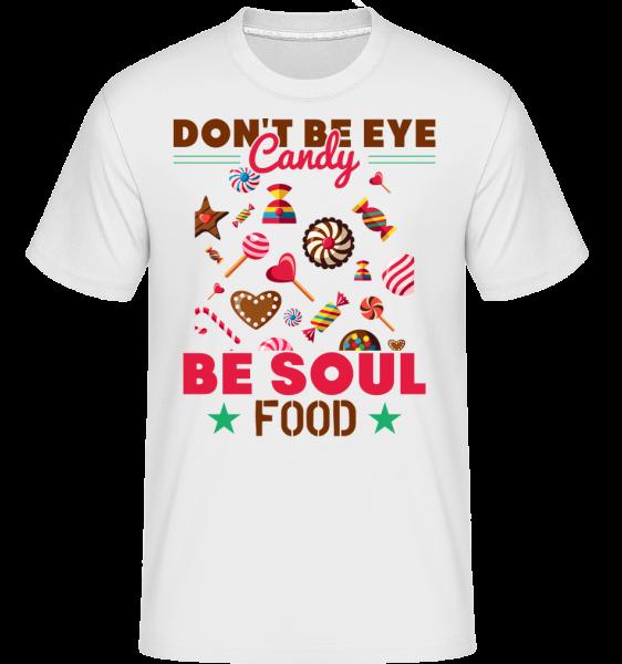 Candy Soul Food - Shirtinator tričko pre pánov - Biela - Predné